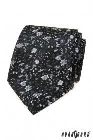 Čierna kvetinová kravata