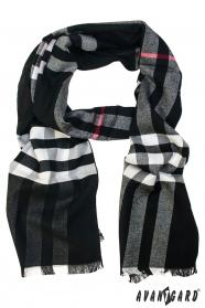 Čierny vzorovaný šál