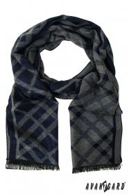 Pánsky šál modro-šedý