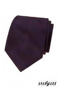 Pánska kravata s bordó prúžkami