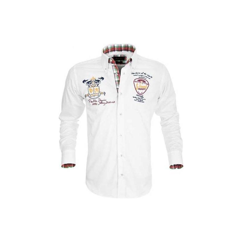 4b82403990b3 Biela športová košeľa Pontto - Galamodino.sk